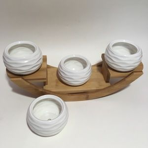 Other - New See-Saw Succulent White Plant Holders